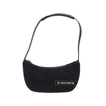 RL POLO 輕巧時尚肩背包(黑)