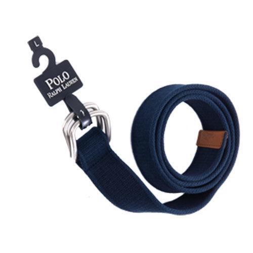 Ralph Lauren POLO 大馬 LOGO 帆布腰帶(海軍藍)