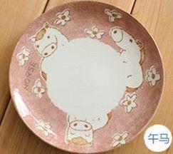 (馬)12十二生肖釉下彩創意陶瓷餐具