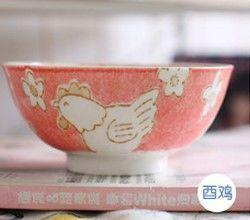 (雞)12十二生肖釉下彩創意陶瓷碗米飯碗餐具