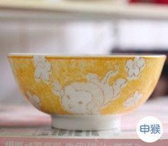 (猴)12十二生肖釉下彩創意陶瓷碗米飯碗餐具