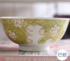 (蛇)12十二生肖釉下彩創意陶瓷碗米飯碗餐具
