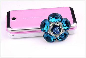 新光飾品-新款施華洛水晶元素藍胸花胸針