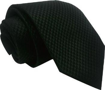 【CLEARANCE】百搭微印花素黑手打領帶