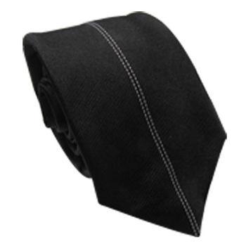 【CLEARANCE】雙線素黑手打領帶