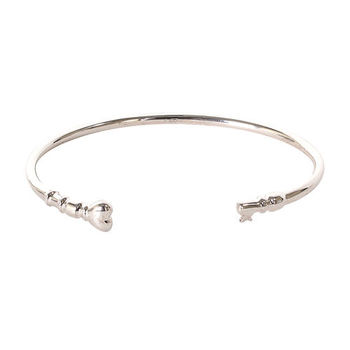 agnes b. 愛心鎖扣邊手環(銀)