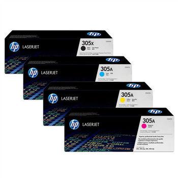 HP CE410X CE411A CE412A CE413A 原廠碳粉匣四色一組 (黑 藍 黃 紅)