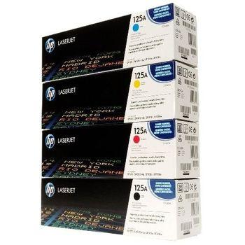 HP CB540A CB541A CB542A CB543A 原廠碳粉匣四色一組 (黑 藍 黃 紅)