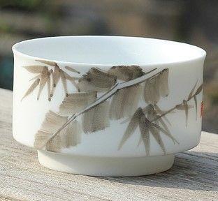 (H款)陶瓷亞光釉功夫茶具手彩繪大號品茗杯精品五彩青花瓷茶杯子