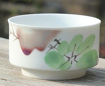 (F款)陶瓷亞光釉功夫茶具手彩繪大號品茗杯精品五彩青花瓷茶杯子