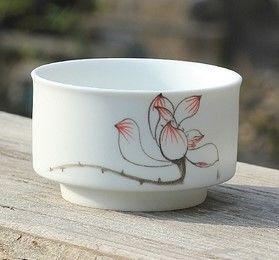 (E款)陶瓷亞光釉功夫茶具手彩繪大號品茗杯精品五彩青花瓷茶杯子
