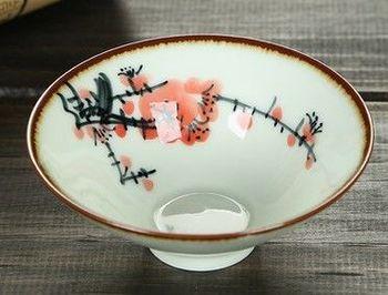 (傲雪寒梅)純手工繪粉彩功夫杯景德鎮青花茶杯荷花品茗茶杯陶瓷杯子