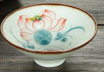 (十裏荷塘)純手工繪粉彩功夫杯景德鎮青花茶杯荷花品茗茶杯陶瓷杯子