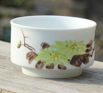 (K款)陶瓷亞光釉功夫茶具手彩繪大號品茗杯精品五彩青花瓷茶杯子