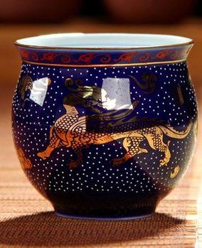 (藍麒麟 )青花瓷不燙手茶杯