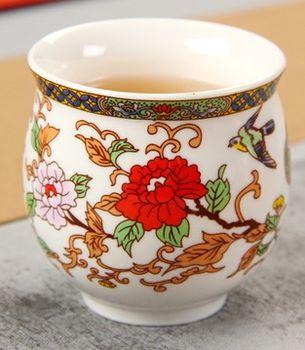( 花鳥圖 )青花瓷不燙手茶杯