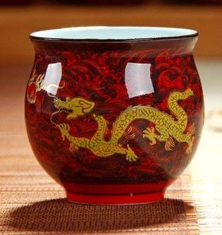 (紅海浪 )青花瓷不燙手茶杯