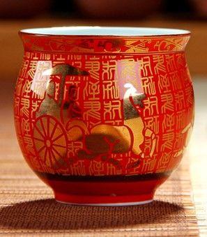 (金馬車)青花瓷不燙手茶杯