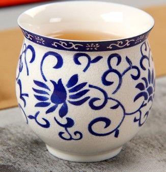 (花型 )青花瓷不燙手茶杯