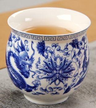 (龍鳳圖 )青花瓷不燙手茶杯