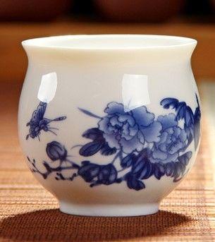 (牡丹2 )青花瓷不燙手茶杯
