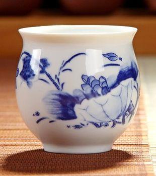 (和為貴 )青花瓷不燙手茶杯