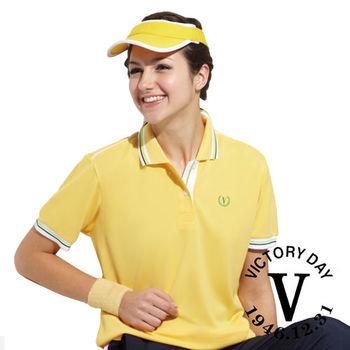 【VICTORY DAY】MIT簡約休閒抗UV吸排機能polo衫(黃)