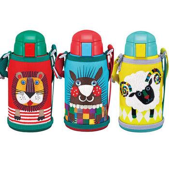 【TIGER虎牌】 600cc動物造型童用保溫保冷瓶_2用頭MBR-S06G