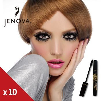 【JENOVA】濃密捲翹睫毛膏超值10入組