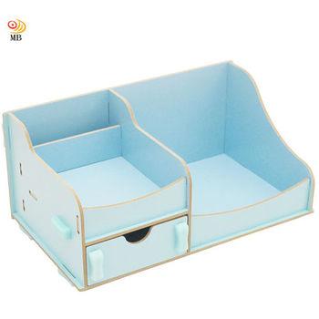 月陽韓版木質帶單抽屜桌面收納盒收納架整理盒置物盒(M006)