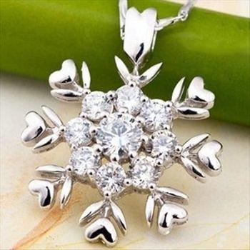 【米蘭精品】聖誕925純銀 項鍊 飾品墜子