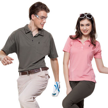 【SPAR】吸濕排汗女版短袖POLO衫(SP73961)粉紅色