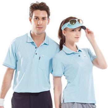 【SPAR】吸濕排汗女版短袖POLO衫(SP74962)水藍色