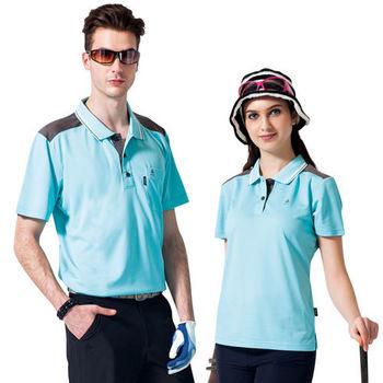 【SPAR】吸濕排汗女版短袖POLO衫(SP73841)湖水藍色