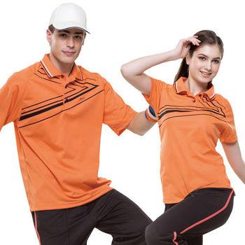 【SPAR】吸濕排汗女版短袖POLO衫(SP73552)鮮桔色
