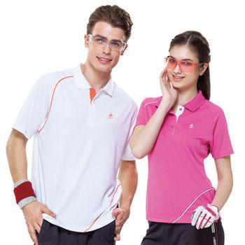 【SPAR】吸濕排汗女版短袖POLO衫(SP73965)桃紅色