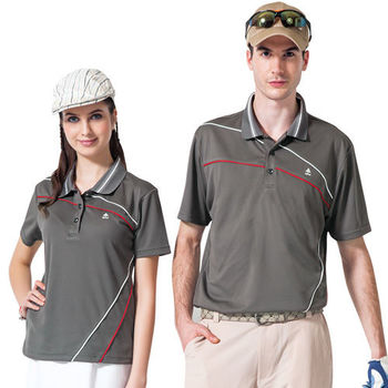 【SPAR】吸濕排汗女版短袖POLO衫(SP47194)咖啡灰色