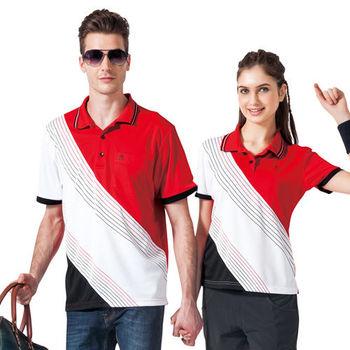 【SPAR】吸濕排汗女版短袖POLO衫(SP47466)炫紅色