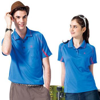 【SPAR】吸濕排汗男版短袖POLO衫(SP48371)清藍色