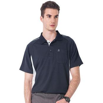 【SPAR】吸濕排汗男版短袖POLO衫(SP48287)丈青色