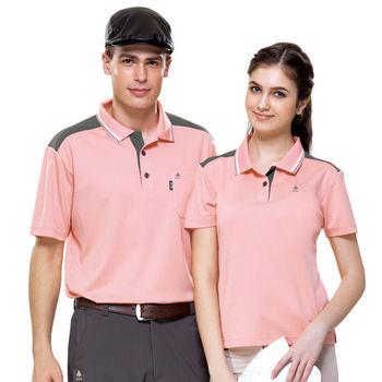 【SPAR】吸濕排汗男版短袖POLO衫(SP61842)桂粉色