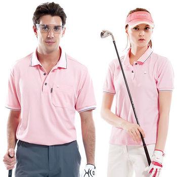 【SPAR】吸濕排汗男版短袖POLO衫(SP53961)甜粉色