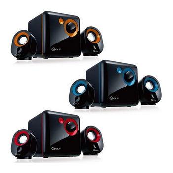 【KT】Q精靈 2.1聲道三件式多媒體USB電源喇叭