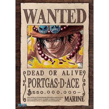 【ONE PIECE-航海王拼圖】海賊王-艾斯懸賞單通緝令手配書五億五千萬貝里500pcs ES500-163