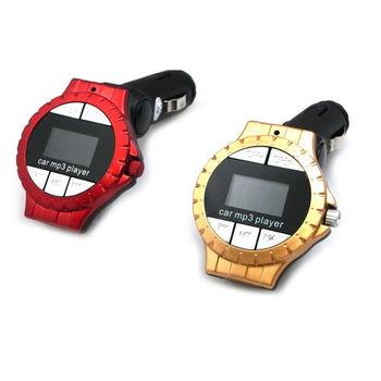 D10手錶款車用MP3轉播器(附多功能遙控器)隨機出貨