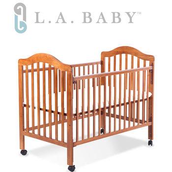 【美國 L.A. Baby】米爾頓嬰兒大床咖啡色