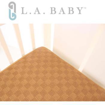 【美國 L.A. Baby】3D蜂巢立體嬰兒紙纖透氣涼蓆床墊(M/L)