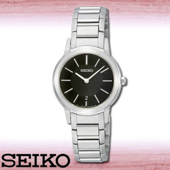 【SEIKO 精工】藍寶石都會薄型典雅石英女錶