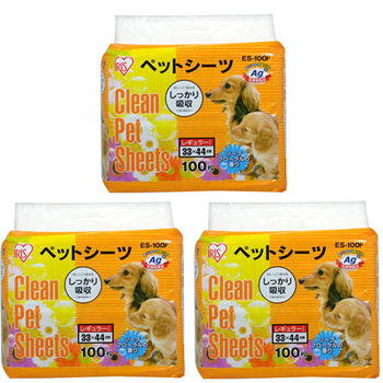 【IRIS】日本 Ag+花香抗菌尿布墊S號 ES-100F(33x44cm) 100片 X 3包