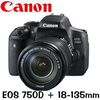 Canon EOS 750D 18-135mm STM (公司貨)
